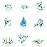 Ícones abstratos dinâmicos de voo ilustração stock