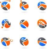 Ícones abstratos do esporte ilustração do vetor