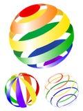 Ícones abstratos do globo Imagens de Stock