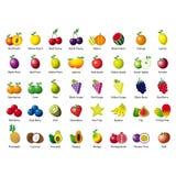 Ícones abstratos dos frutos Imagem de Stock