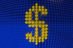 Ícones abstratos no dólar Imagem de Stock