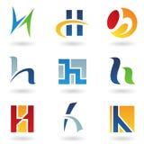 Ícones abstratos para a letra H Fotografia de Stock