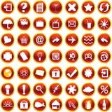 Ícones ajustados Foto de Stock