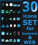30 ícones ajustados! Fotos de Stock Royalty Free