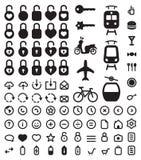 Ícones ajustados Imagem de Stock