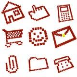 Ícones ajustados Foto de Stock Royalty Free