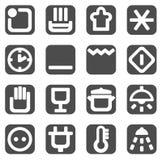 Ícones ajustados Imagens de Stock