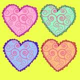 Ícones ajustados, corações do coração do vetor ajustados Fotos de Stock