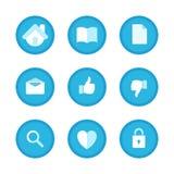 Ícones ajustados da educação, do negócio e do escritório Fotografia de Stock