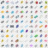 100 ícones ajustados, da inovação estilo 3d isométrico ilustração royalty free