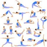 Ícones ajustados da ioga. Foto de Stock