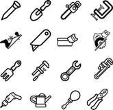 Ícones ajustados da série do ícone da ferramenta Fotos de Stock