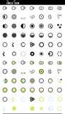 Ícones ajustados da Web do vetor. círculos e redondo ilustração stock