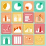 Ícones ajustados de cartas da apresentação do negócio e Fotografia de Stock Royalty Free