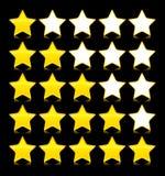 Ícones ajustados de estrelas do yeloow. Ilustração do vetor Ilustração do Vetor