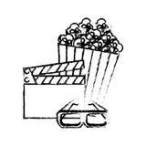 Ícones ajustados do entretenimento do filme Foto de Stock Royalty Free