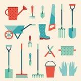 Ícones ajustados do jardim Fotografia de Stock Royalty Free