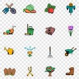 Ícones ajustados do jardim Imagem de Stock
