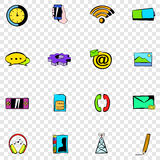 Ícones ajustados do móbil Foto de Stock