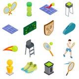 Ícones ajustados, do tênis estilo 3d isométrico ilustração stock