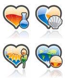 Ícones ajustados - elementos 53b do projeto Imagens de Stock Royalty Free
