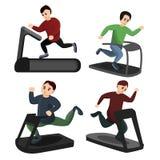Ícones ajustados, estilo da escada rolante dos desenhos animados ilustração royalty free