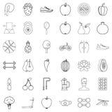 Ícones ajustados, estilo da harmonia do esboço Foto de Stock Royalty Free