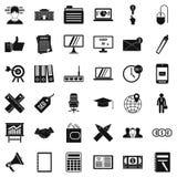 Ícones ajustados, estilo da operação bancária do simle Fotografia de Stock