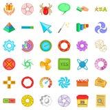 Ícones ajustados, estilo da tradução dos desenhos animados Foto de Stock Royalty Free