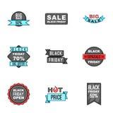 Ícones ajustados, estilo da venda dos desenhos animados Fotografia de Stock