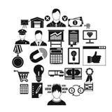 Ícones ajustados, estilo de transferência de dinheiro dos desenhos animados Fotos de Stock