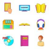 Ícones ajustados, estilo do arquivo dos desenhos animados Fotografia de Stock Royalty Free