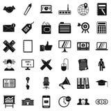 Ícones ajustados, estilo do depósito do simle Imagens de Stock