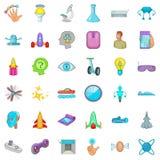 Ícones ajustados, estilo do dispositivo dos desenhos animados Imagens de Stock