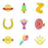 Ícones ajustados, estilo do pagamento da concessão dos desenhos animados Imagens de Stock Royalty Free