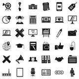 Ícones ajustados, estilo do pagamento do simle Fotografia de Stock