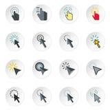 Ícones ajustados, estilo liso do cursor do rato ilustração do vetor