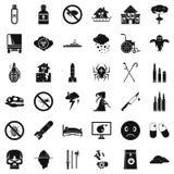 Ícones ajustados, estilo simples da bomba Fotos de Stock