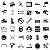 Ícones ajustados, estilo simples da equitação Imagem de Stock Royalty Free