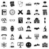 Ícones ajustados, estilo simples da realidade ilustração do vetor