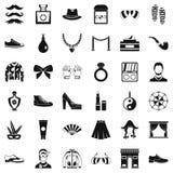 Ícones ajustados, estilo simples da vida de Vogue ilustração stock