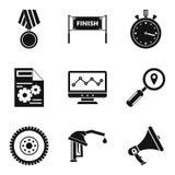 Ícones ajustados, estilo simples da vitória ilustração do vetor