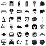 Ícones ajustados, estilo simples do espaço ilustração do vetor