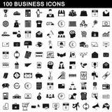 100 ícones ajustados, estilo simples do negócio Fotos de Stock