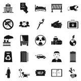Ícones ajustados, estilo simples do patrocínio ilustração stock