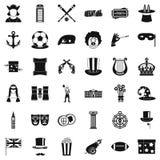 Ícones ajustados, estilo simples do truque ilustração royalty free