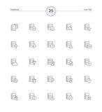 Ícones ajustados, ilustração do base de dados do vetor Fotografia de Stock