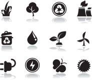 Ícones ambientais Ilustração do Vetor