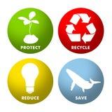 Ícones ambientais ilustração stock