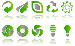 Ícones ambientais ilustração royalty free